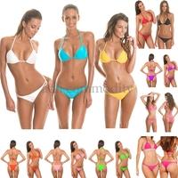drop shipping 2014 Colorful Swimsuits Brazilian Bikini set Sexy swimsuit Tops and Bottoms For Women's bikini swimwear