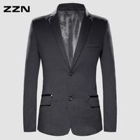 Zzn spring and autumn blazer outerwear male blazer slim small plaid