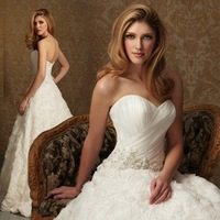New arrival 2014 wedding dress Tube top fashion princess sweet wedding brief fashion train bride wedding dress