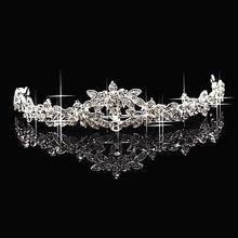 Elegant Rhinestone crown Crystal   bridal hair Jewelry Wedding Bride Party B10