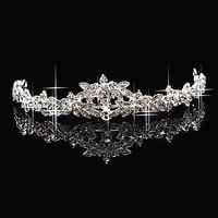 W2  Crown Tiara Elegant Rhinestone crown Crystal   bridal hair Jewelry Wedding Bride Party B10