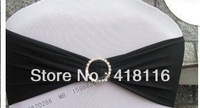 FREE SHIPPING 100pcs spandex  band chair sashes with diamond