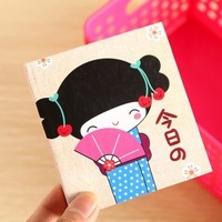 Min.order is $5 Korea Stationery Cartoon Kimono Girl Notebook Notepad Hardcover Diary Book Promotion Gift