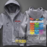 Autumn and winter thickening cardigan sweatshirt male Women deadmau5 mouse electronic dj