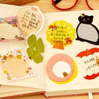 Min.order is $5 Fashion Cute Animal Series Sticky Memo Pad N Times Stickers Notepad Notebook School Promotion Gift