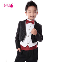 Clothing child formal dress dovetail male child formal dress six pieces set male child suit performance wear male child costume