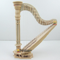 2014 3D puzzle wool puzzle handmade diy wooden puzzle harpist model  Free shipping