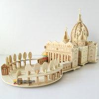 2014 Wool 3D puzzle wanju adult puzzle model assembled intelligence toys large  Free shipping