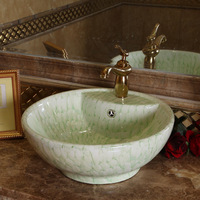 Ceramic art basin wash basin counter basin wash basin authigenic tp1112