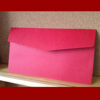 Free shipping Thickening 210 red cardboard tailorable envelope the word sealing paste invitation card