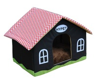 Small dogs cotton dog house plaid pet kennel Luxury pet house  free shipping+gifts