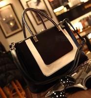 Fashion black-and-white 2014 colorant match leather fashion bag small women's handbag messenger bag200-13