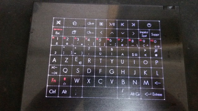 Hot Selling 2.4G Wireless France HTPC Keyboard Touchpad supports Windows 8/7/XP/Android MID free shipping(China (Mainland))