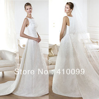 2014 New arrival Sexy Custom Made Scalloped Hand Work Hand work Flowers Mermaid Wedding Dress Free Shipping
