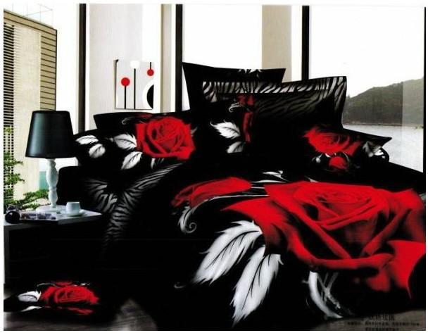 Ropa de cama negro rosa adolescente