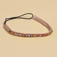BeautyPlanning-Spring 2014 new wholesale 4 pieces/lot handmade girls headwear hair rope multicolor beaded crystal headband