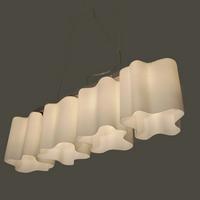 Lighting fashion personality lamp series 4 glass pendant light pendant living room pendant light