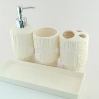 White ceramic bathroom set piece set bathroom supplies kit cup set