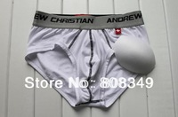 2014 Andrew Christian 3pcs Men flex brief with show-it tech Low Waist Panty Shorts Modal underwear grey/Black/White free ship