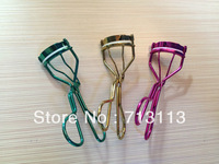 FREE SHIPPING SHINY METALLIC  ELECTROPLATED COLOR EYELASH CURLER,COSMESTIC ASSORTED COLOR,FASHION NEW STYLE FOR BEAUTY CARE