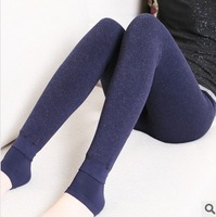Free Shipping!!   Thickening cotton velvet leggings trample feet critical hit