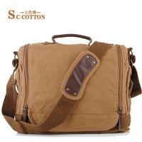 Sale 2014 new cotton casual messenger bags business laptop shoulder bag  men's & women's canvas bag messenger bags for men a186