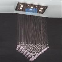 Brief modern crystal pendant lamp rectangle pyramid crystal lamp restaurant lamp living room lights bedroom lamp