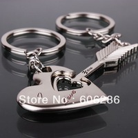 Free shipping 200pcs=100pairs/lot  zinc alloy love couple keychain metal key chains fashion key rings for valentine gift