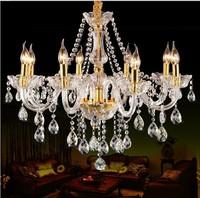 8 Lights Luxury k9 crystal Chandelier light for bedroom Living room dinning room Light Luxury Crystal chandelier lighting