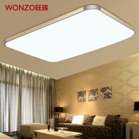 Free Shipping 92X65CM 72w led ceiling lamp modern minimalist rectangular large living room balcony bedroom lighting fixtures