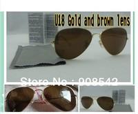 Pilot Sunglasses Wholesale Men and women sunglasses New Female men sun glasses DEU3#15  Free shipping