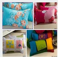 Free shipping home textile plain print envelope-type cotton pillow case pillowcase pillow cover wholesale retail free shipping
