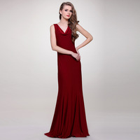 red wine knitted formal dress party maxi dress 2014 spring and summer ultra long expansion bottom fish tail wedding dress