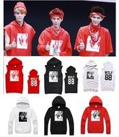 Korean kpop wolf XOXO sleeveless sweater album  with Carding fabrics  and fleece lining