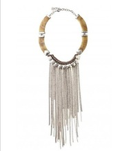 Hot Selling Women Jewelry New 2014 Fashion Luxury Punk Silver Color Waterfall Tassel Necklaces(China (Mainland))