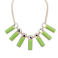 Fashion elegant square brief necklace