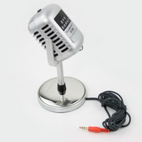 Freeshipping New Mini Microphone MIC Desktop Stand PC Laptop 3.5mm