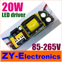 Free shipping2pcs/lot 20W led driver lamp driver 85-265V inside driver for lamp DIY commom use E27 GU10 E14 LED lamp