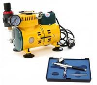 YEHONG Mini Air Compressor AC-108B + AB-130 Airbrush