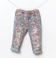 5pcs/lot Autumn Girls Kids Flower Demin Jeans, C-T-60