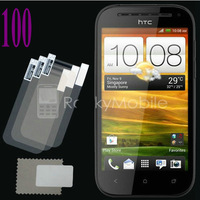 Wholesale 100pc High quality Clear Screen Protectors Screen Film Guard For HTC One SV 100pc (50 film+50 cloth)