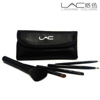 Lac make-up beauty brush set cosmetic brush belt brush set bag 5 set horse hair brush small