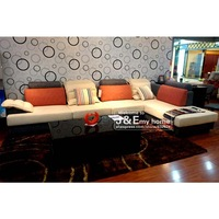 L shaped sofa bed wide armrest split processing section curve fitting perfectly fine workmanship wide armrest sofa