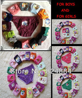 Free shipping!12pcs /lot GIRLS AND BOYS cartoon designs underwears children cotton short pants Kids panties