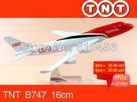 Free Shipping TNT B747 16cm metal airplane models aircraftmodel airbus prototype plane model kits