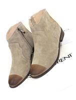 2013 fashion vintage boots side zipper toe cap retro finishing fashion genuine leather retro finishing flat boots martin boots
