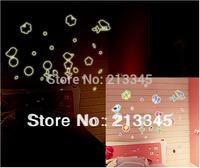 [Saturday Mall] - glow in the dark cartoon flower birds luminous stickers removable decoration decals fashion art 0015