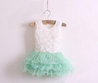 1PC 2014 Girl Tutu Dress Infant Girls Children Clothing Green Tutu Chevron Girls Dress Fit 90-130cm Girl Wear Free Shipping
