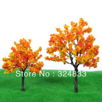50pcs H :70mm  model tree model wire  scale  tree for building model layout model tree with leaf