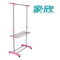 Racks floor lift single pole retractable stainless steel storage shelf